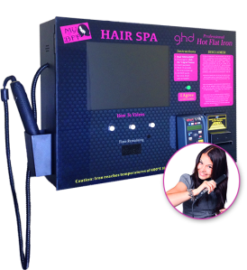 Hair Iron Straightener Vending Machine w LCD Advertising Screen