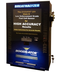 Boozelator fuel cell bar breathalyzer vending machine breath tester