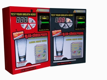 bill operated bar breath test breathalyzer vending machine wall mounted bac