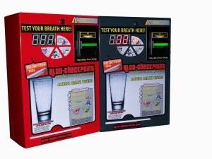 bar breathalyzer alcohol test analyzer coin op wall mount